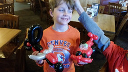 Motorcycle & race car Balloon Animal