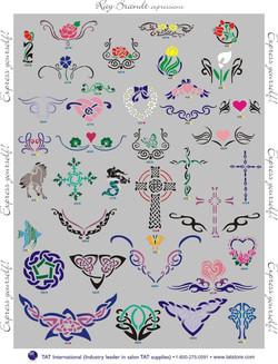ladiestribal stencils Denver Body art face airbrush Face Paint