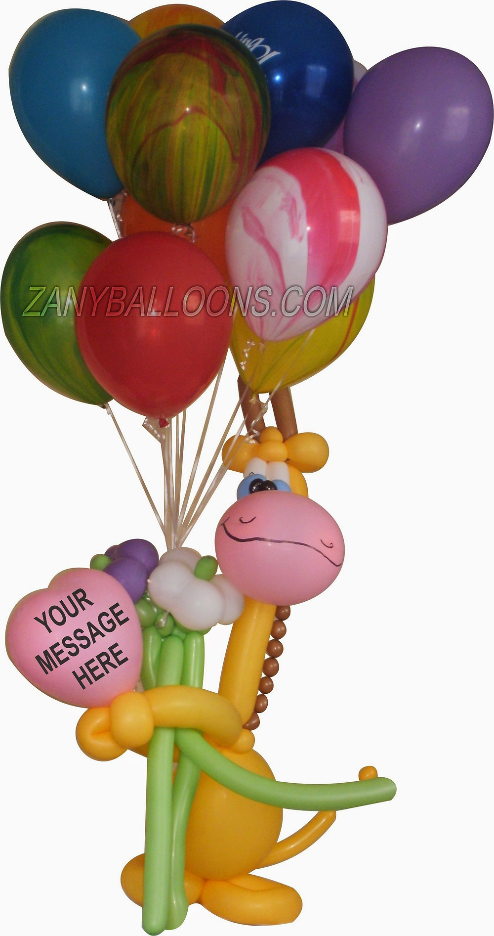 Giraffe Balloon Bouquet Delivery in Denver