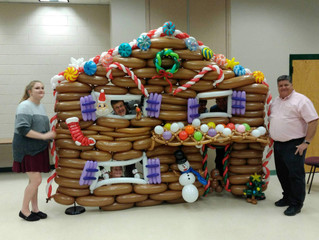 Christmas Denver Balloon Jam Gingerbread house