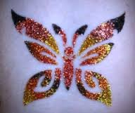 Butterfly Glitter tattoos Denver