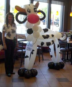 Chick-Fil-A Cow balloon Denver Delivery Decor