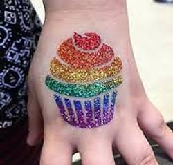 Cupcake Glitter tattoos Denver
