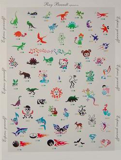 childrens stencils Denver Body art face airbrush Face Paint
