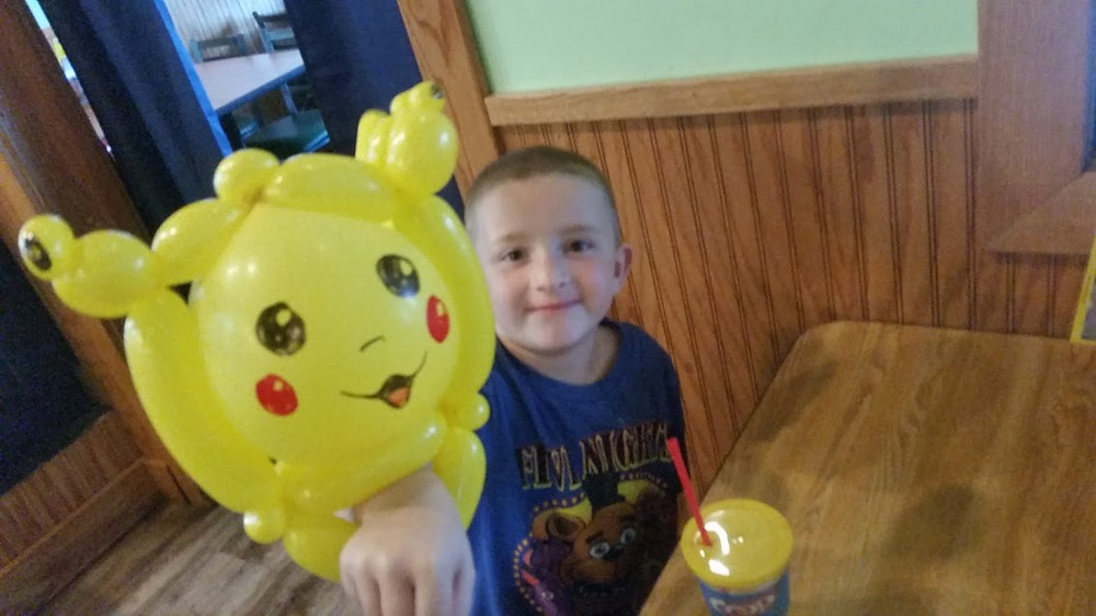Made a Pikachu (at Quaker Steak and Lube Sundays Noon-3pm)