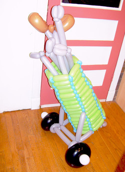 Golf bag Caddy balloon Denver Delivery Decor