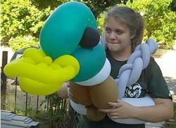Zena with Mallard duck