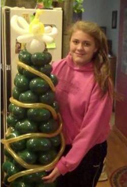 Zena with Christmas tree