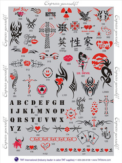 black-and-red-Kit stencils Denver Body art face airbrush Face Paint