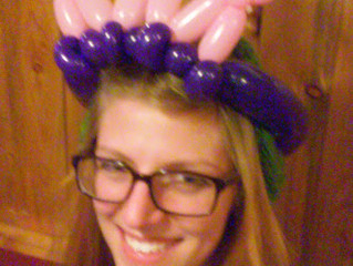 balloon animal twisting crown at Beaujos in Denver