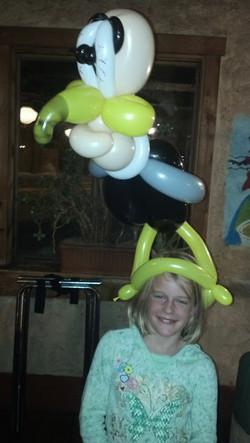 Balloon animal buzzard Denver artist Zane King