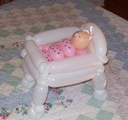 Baby Shower crib balloon Denver Delivery Decor (2)