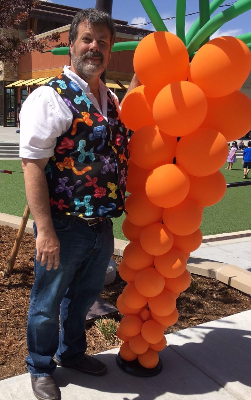 Carrot balloon decor decorations Longmont
