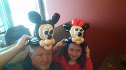 Mickey & Minnie Mouse Balloon Animal