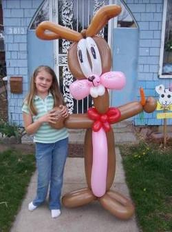 Zena with Easter Bunny