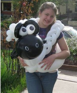 Zena with Shawn the sheep