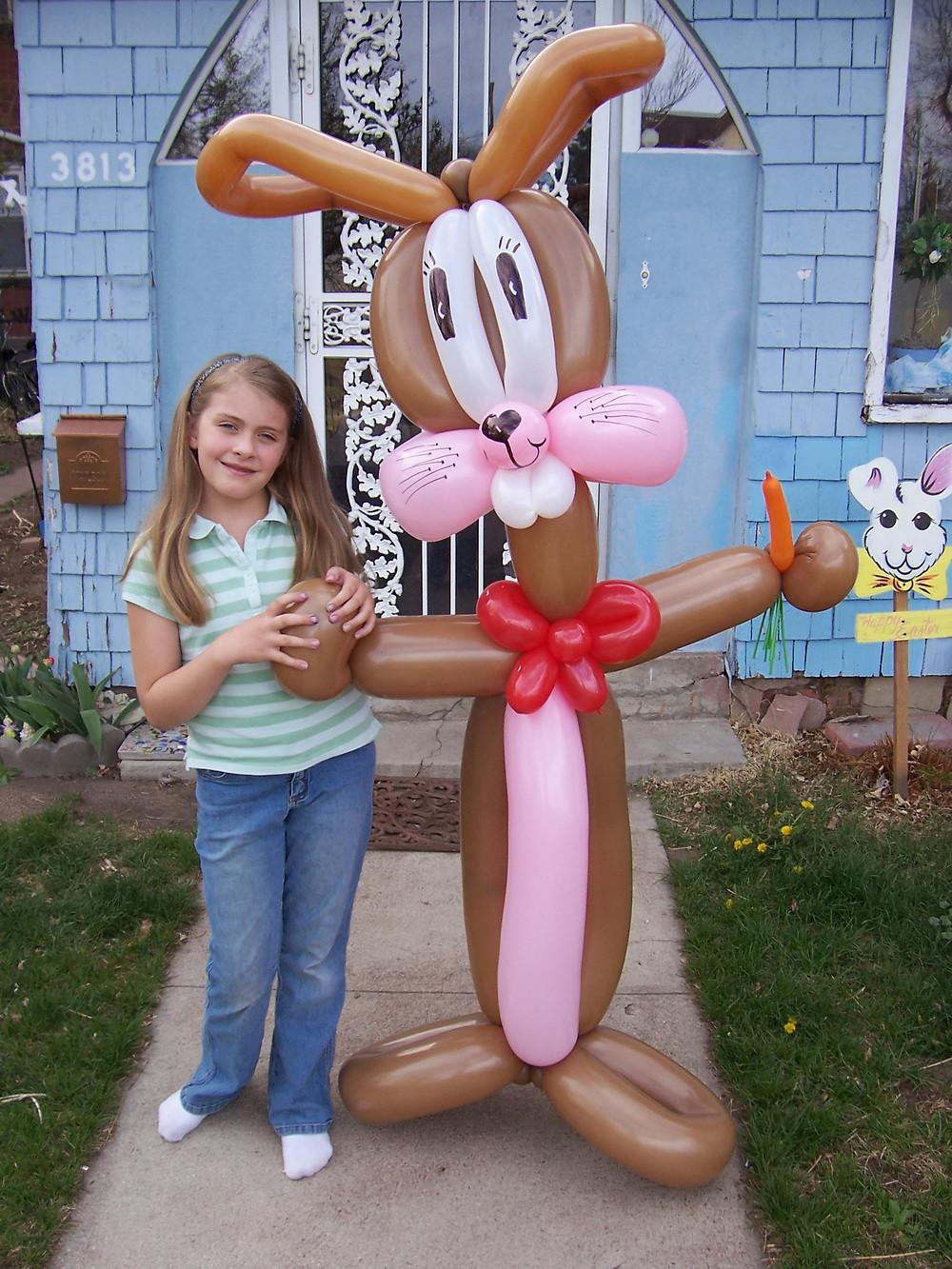 Easter Bunny Balloon sculpture decor