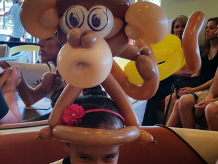 Balloon Animal Monkey at Centennial Snooze