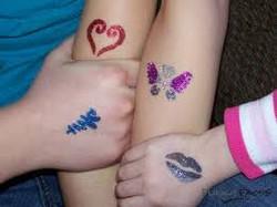 Heart Butterfly Lip Kanji Glitter tattoos Denver