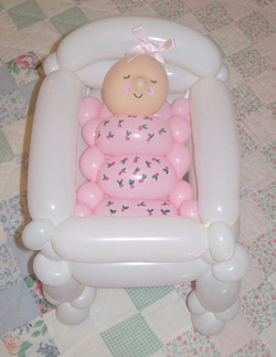 Baby Shower crib balloon Denver Delivery Decor