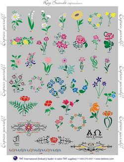 ladies floral stencils Denver Body art face airbrush Face Paint