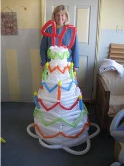 Kandi with Giant cake