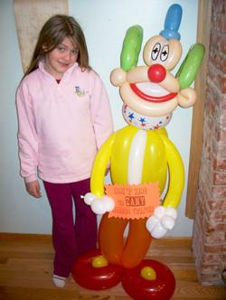 Clown balloon Denver Delivery Decor