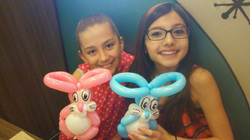 Cute Bunny rabbits Balloon Animal