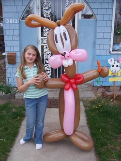 Easter Bunny Rabbit balloon Denver Delivery Decor