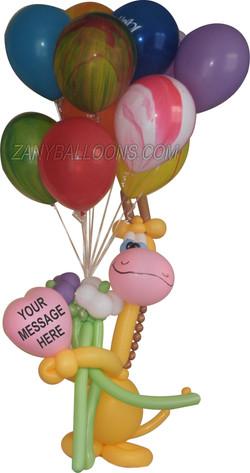 Giraffe Denver Helium Balloon Delivery
