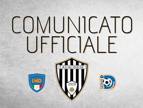 Comunicato Ufficiale: Gianni Nucera non è più l'allenatore della Lavagnese.