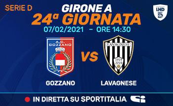 Serie D: domenica Gozzano - Lavagnese in diretta su Sportitalia!