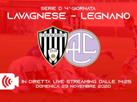 Serie D: sarà trasmessa in Live streaming Lavagnese - Legnano!