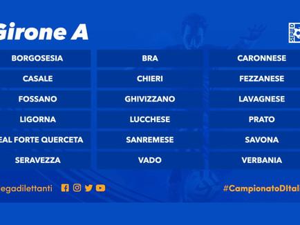 Gironi di Serie D: insolito girone A con squadre piemontesi, liguri, toscane e la Caronnese.