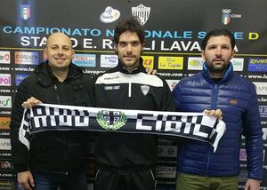Cristian Brega con il Team Manager Davide Focacci e il Direttore Sportivo Simone Adani