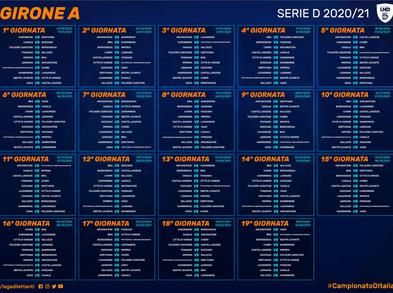 Serie D: pubblicati i calendari, Derby il 2 Dicembre e l'1 Aprile.