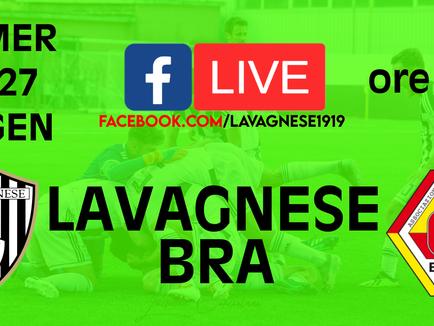 Serie D: Lavagnese - Bra sarà trasmessa in Live streaming su Facebook.