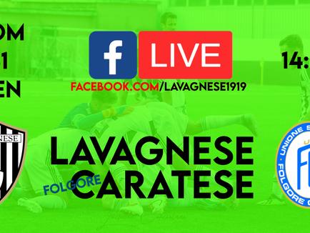 Serie D: Lavagnese - Folgore Caratese sarà trasmessa in Live streaming su Facebook.