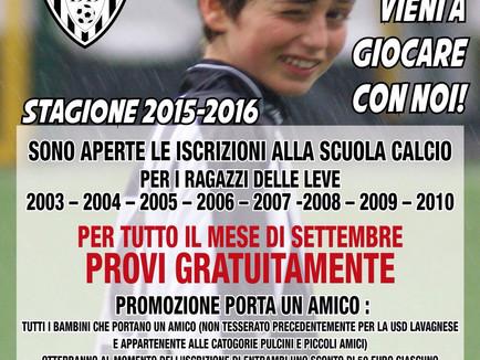 Aperte le iscrizioni alla Scuola Calcio bianconera.