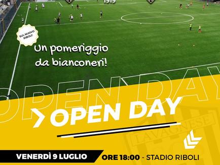Open Day: Venerdì 9 Luglio un pomeriggio da Bianconeri!