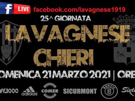 Serie D: Lavagnese - Chieri sarà trasmessa in Live streaming su Facebook.