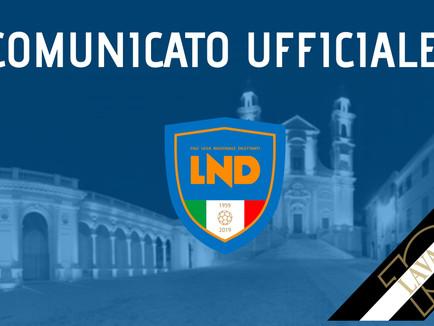 Comunicato Ufficiale LND: ancora tutto sospeso fino al 4 Maggio!