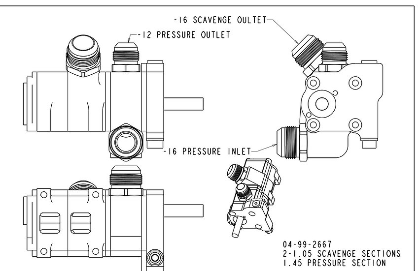 LS Production F-Body, 3-Stage, Replacement Dry Sump Pump