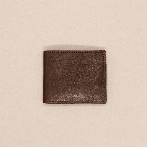 Портмоне для купюр с отделениями для 6-ти карт коричневое