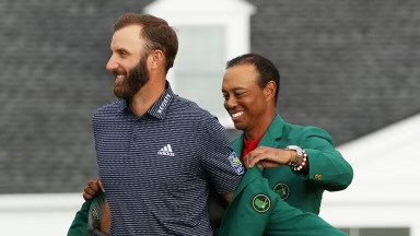 The Masters 2020 Dustin Johnson Masters Tiger Woods Masters The Masters 2021 Augusta National Golf PGA Tour Tiger DJ Winners Green Jacket Repeat Defending Champion