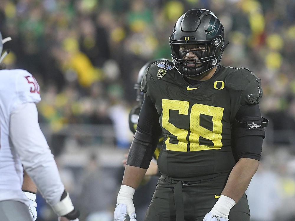 Penei Sewell, Left Tackle, NFL Draft, Oregon University