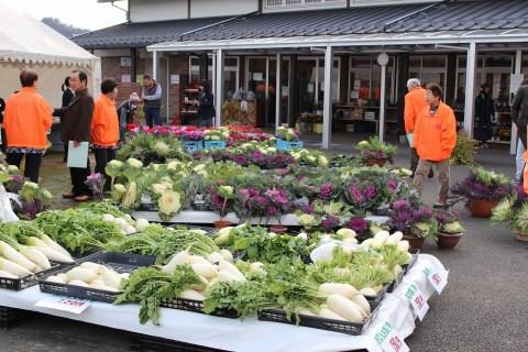 葉ぼたん・野菜の販売