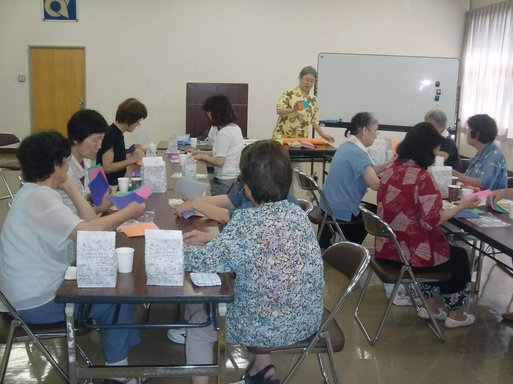 7月開催 第4回女性サロン ~折り紙教室~