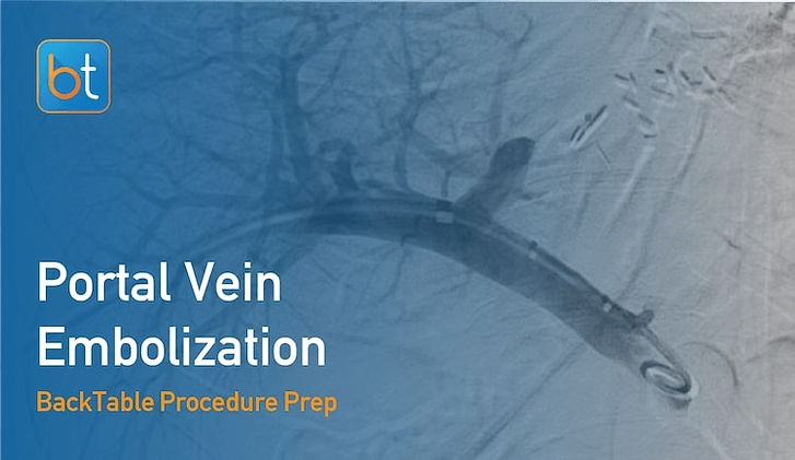 Step-by-step guidance on how to perform Portal Vein Embolization. Review tools, techniques, pearls, and pitfalls on the BackTable Web App.