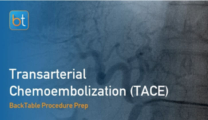 Step-by-step guidance on how to perform Transarterial Chemoembolization. Review tools, techniques, pearls, and pitfalls on the BackTable Web App.